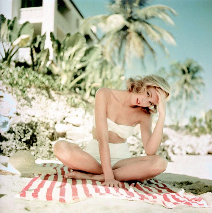 Грейс Келли на отдыхе, Ямайка, 1955 год.