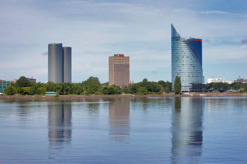 Central Building Swedbank In Riga, Latvia.
