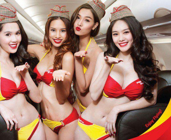Сьюардессы вьетнамских авиалиний