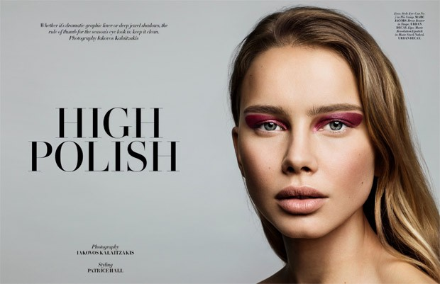 The gorgeous Serafima at Select Models stars in High Polish beauty story captured by fashion photogr