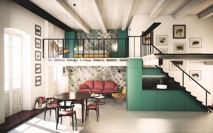 Cobalt Apartment by Mauro and Matteo Soddu