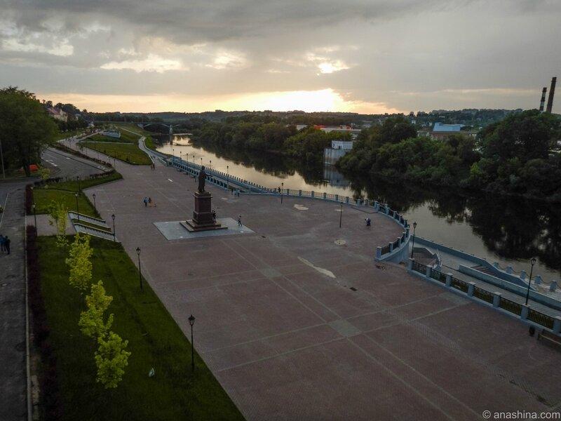Закат, Смоленск, набережная Днепра