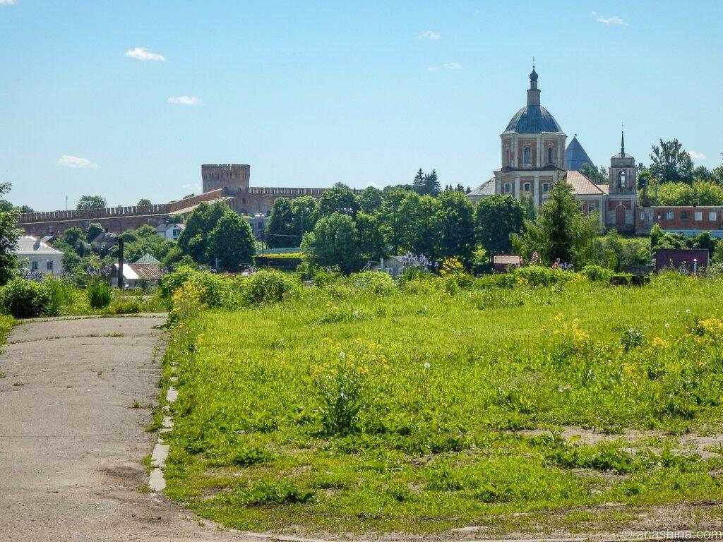 Церковь Георгия Победоносца, крепостная стена, Смоленск
