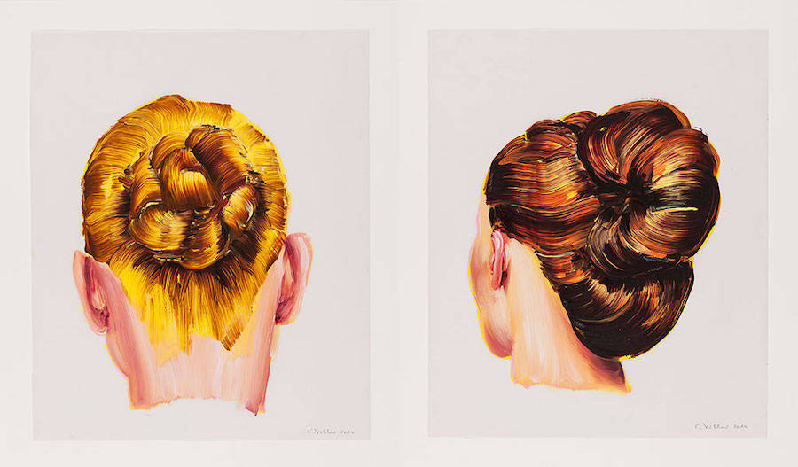 Fluid and Precise Hairstyles Oil Portraits