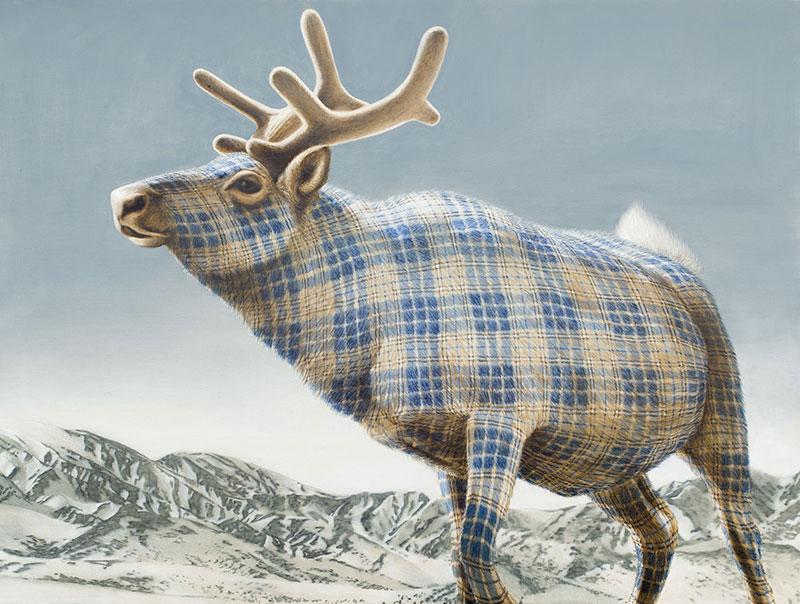 New Tartan Animals by Sean Landers