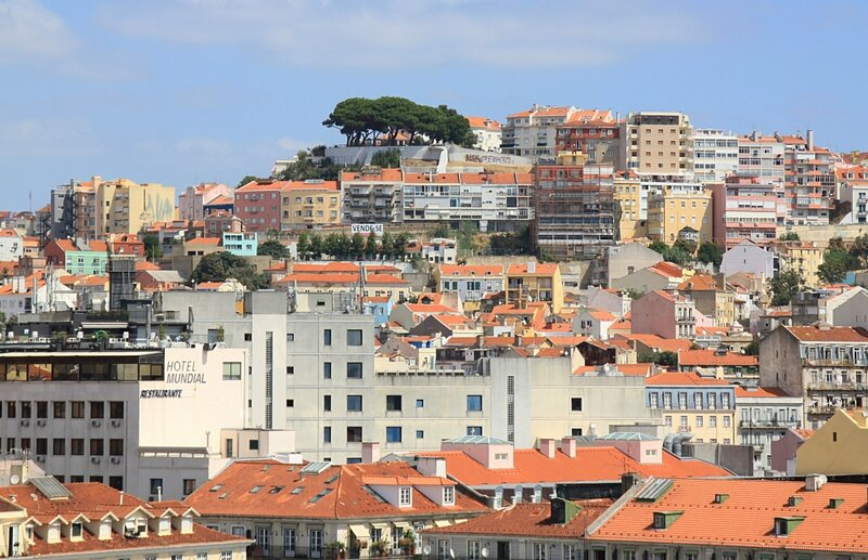 Лиссабон, вид с Санта Жушта (Lisbon view from the Santa Justa)