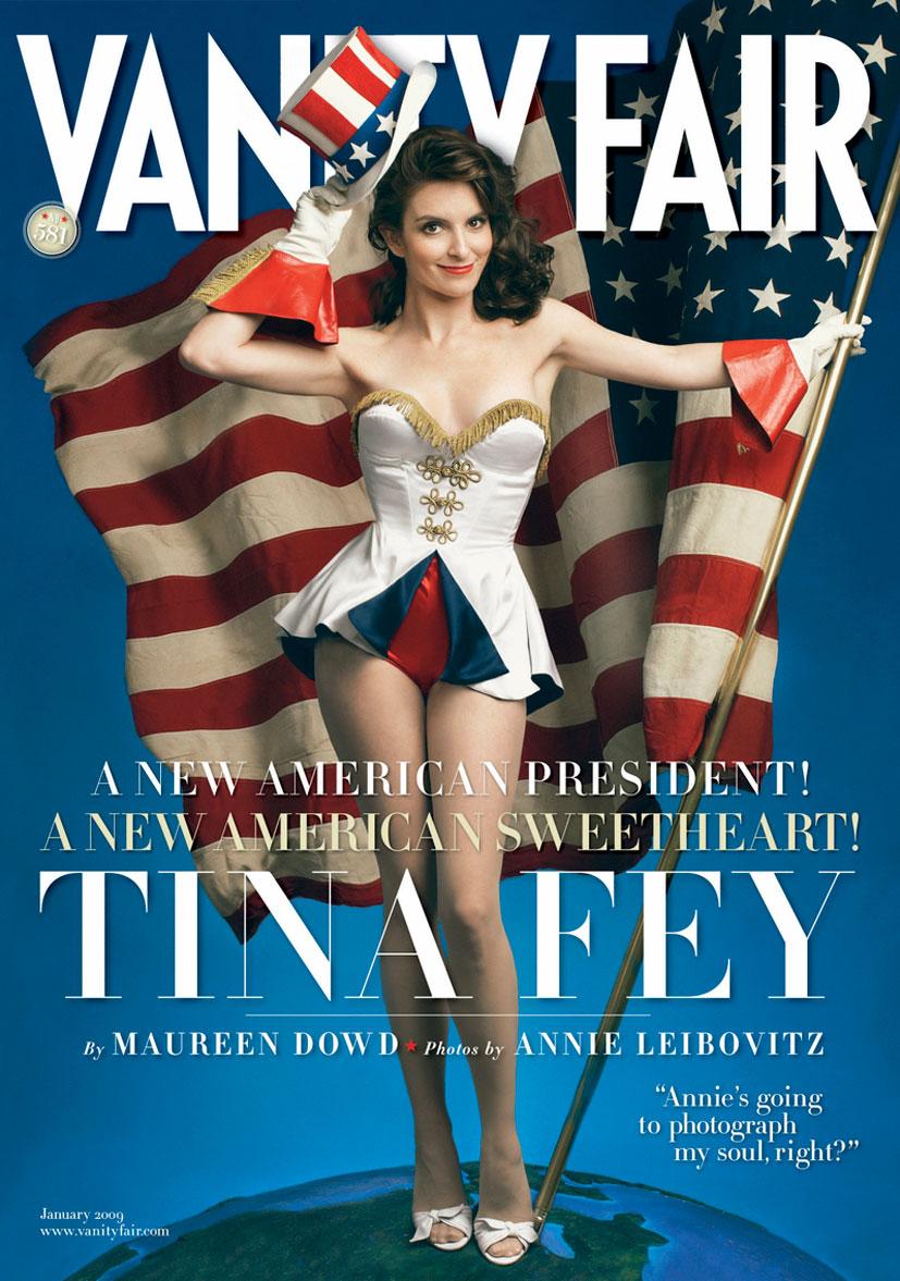 Знаменитые девушки в американском флаге - Tina Fey