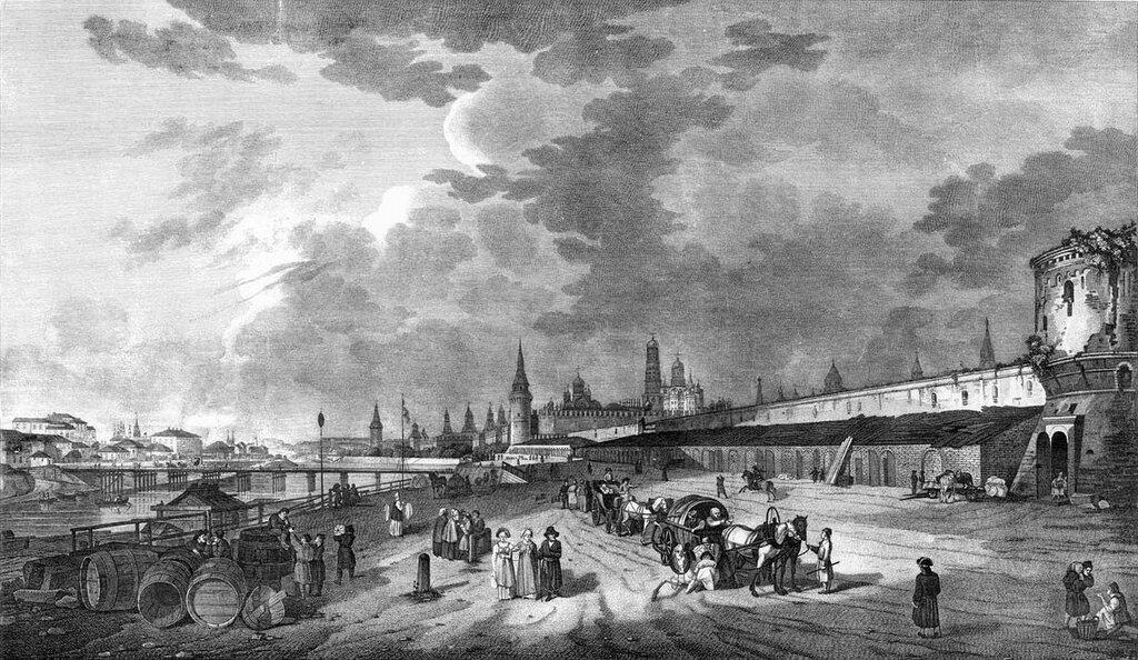 455083 Вид Кремля с Москворецкой набережной 1796 Жерар Делабарт.jpg