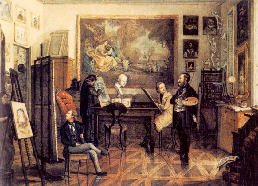 Than In the Atelier of Miklós Barabás 1847