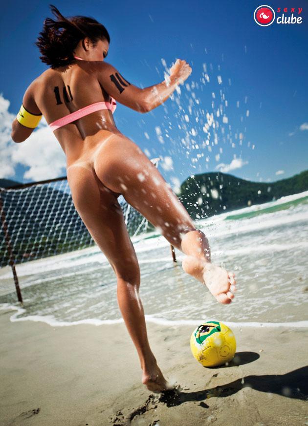 Beach soccer nude rough