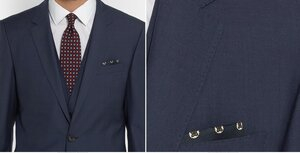 Hugo Boss - Navy Slim-Fit Wool and Silk-Blend Three-Piece Suit.jpg
