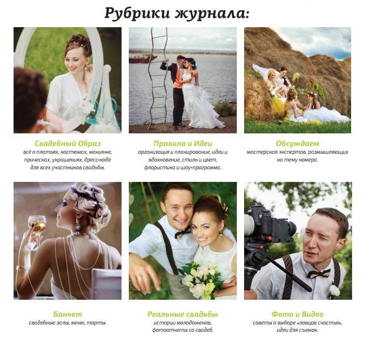 Рубрики журнала Мы женимся