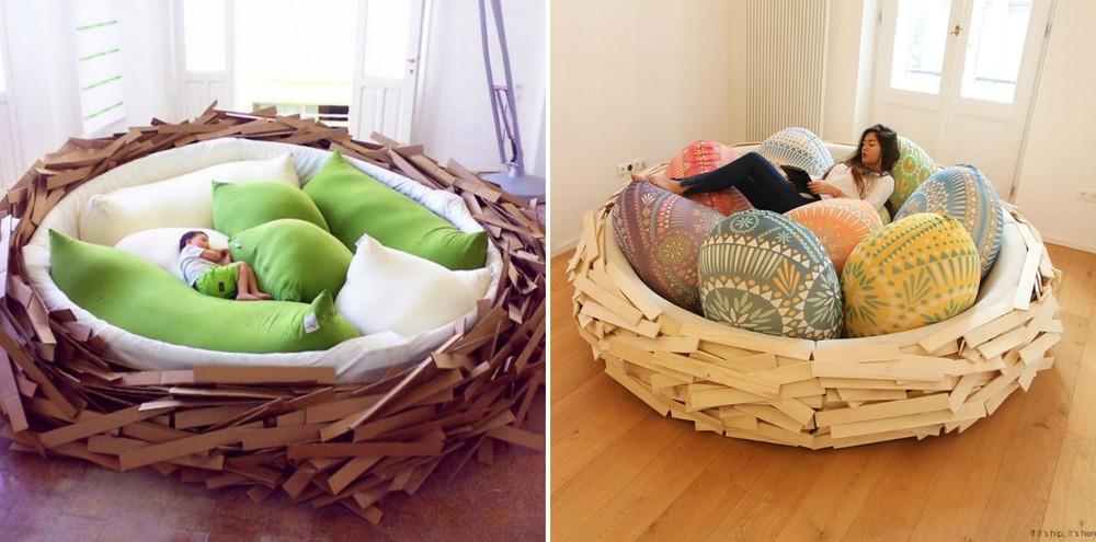 3. Кровать-гнездо Уютное гнездышко понравится и детям, и взрослым.