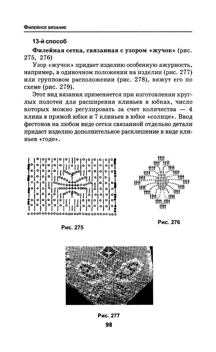 Виды сетки в филейном вязании