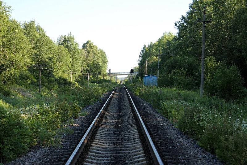 КТСМ 143 км и мост трассы М9 Балтия, перегон Рождествено - Ржев-Балтийский