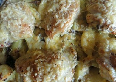 картошка запечённая с курицей