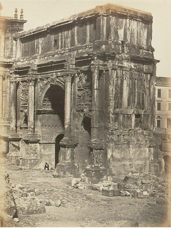 Арка Септимия Севера на римском Форуме. 1858