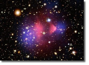 Столкновение двух огромных галактических кластеров