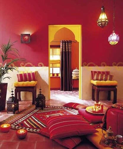 интерьер в индийском стиле этнический декор