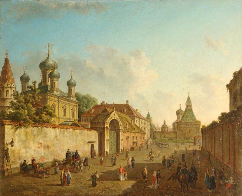Вид от Лубянки на Владимирские ворота