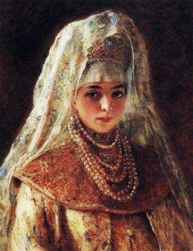 К. Маковский, Княгиня под венец