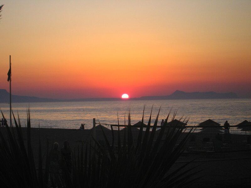 Крит, Закат в Ретимно