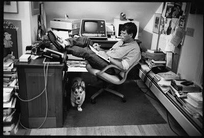 Стивен Кинг за работой