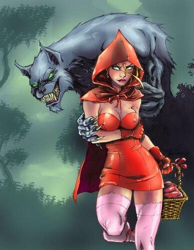 Серый волк из порно и красная шапочка