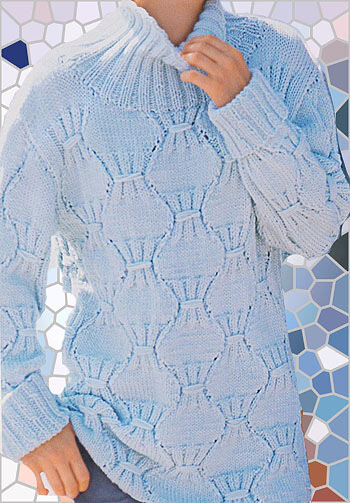 Джемпер спицами с рельефным узором
