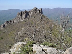 В горах, вид на скалы Индюка
