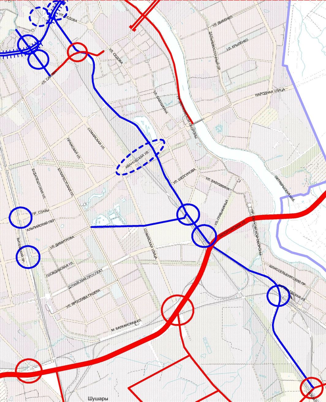 Скоростной диаметр в санкт-петербурге схема