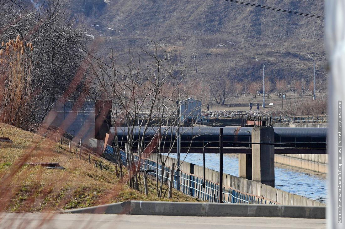 фотографии курьяновские очистные сооружения водосброс в Москву-реку