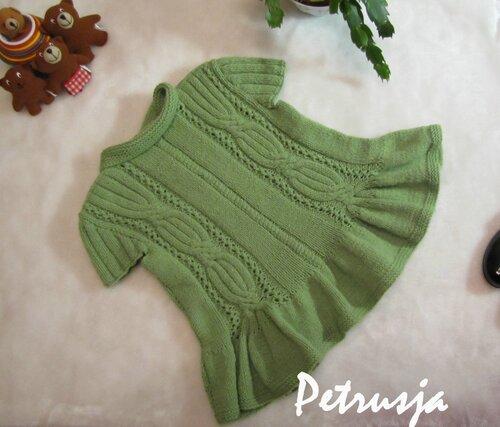 Yeşil şirin elbise modeli