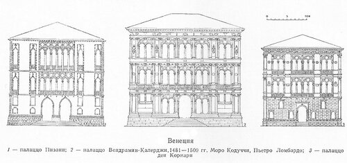 Палаццо Венеции XVв., чертежи