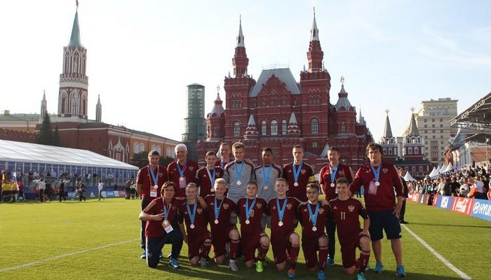 Юношеская сборная России 2000 года рождения - серебряные призеры международного турнира - 1000 дней до ЧМ-2018.
