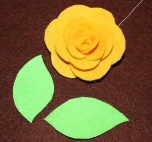 Роза из фетра. Мастер-класс 0_64441_c02960b4_M
