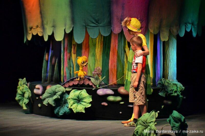 Спектакль 'Слонёнок', Саратов, театр кукол 'Теремок', 23 мая 2015 года