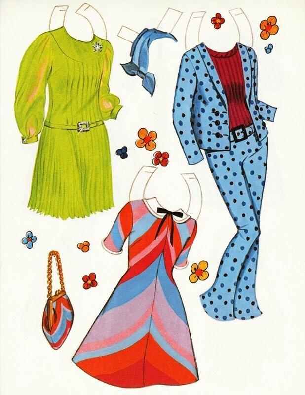 Бумажные куколки Джейн Фонда. 1966 год.