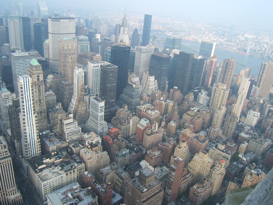 Виды Нью-Йорка с Эмпайр-стейт-билдинг