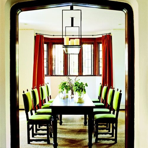 Bay window in dining