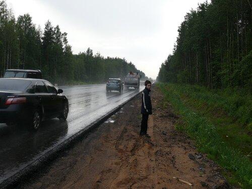 Рябовское шоссе, вид в сторону Питера