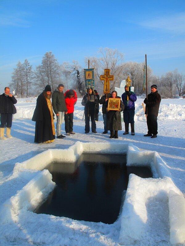 Зима,с.Остров,православные праздники,Крещение