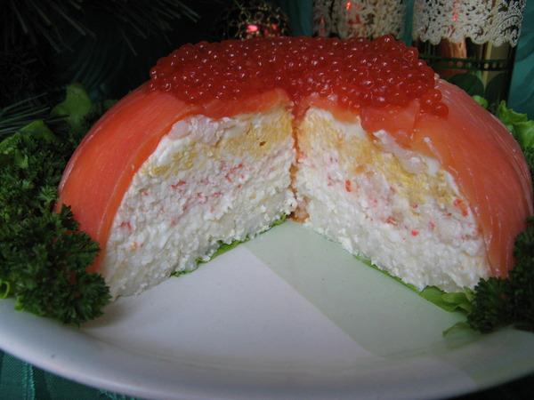 Новые вкусные салаты рецепты с с красной рыбой