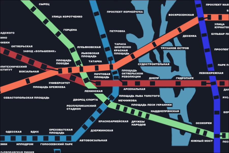 Воображаемая схема метро
