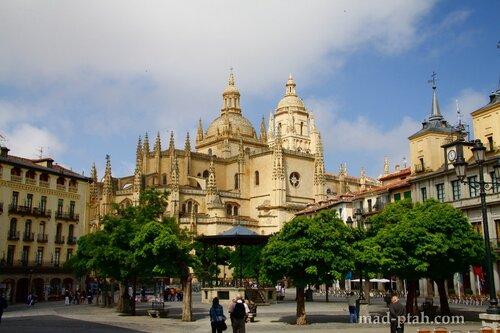 сеговия, испания, кафедральный собор