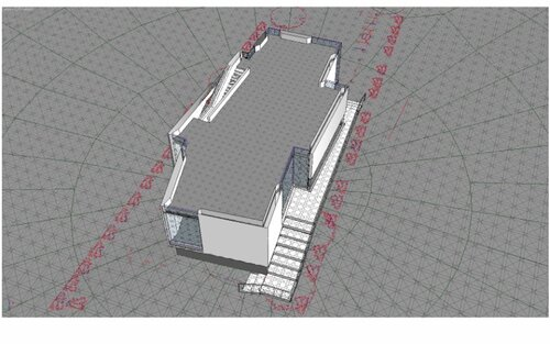 Разрез по уровню второго этажа