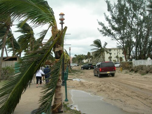 А до урагана здесь была нормальная улица...
