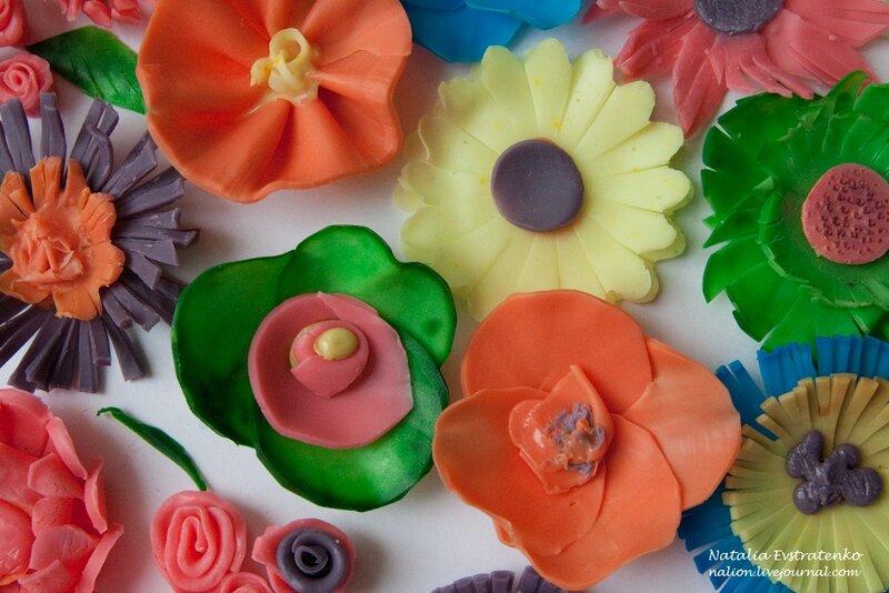 лепим мак из мыла, цветы из мыла