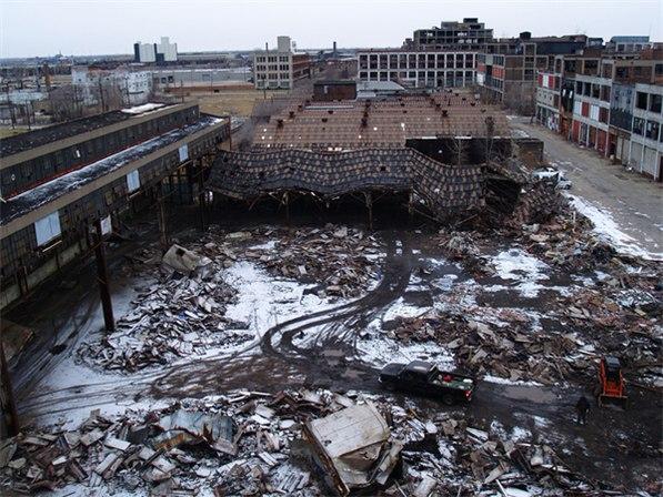 Руины завода Паккард в Детройте / abandoned Detroit Packard Plant