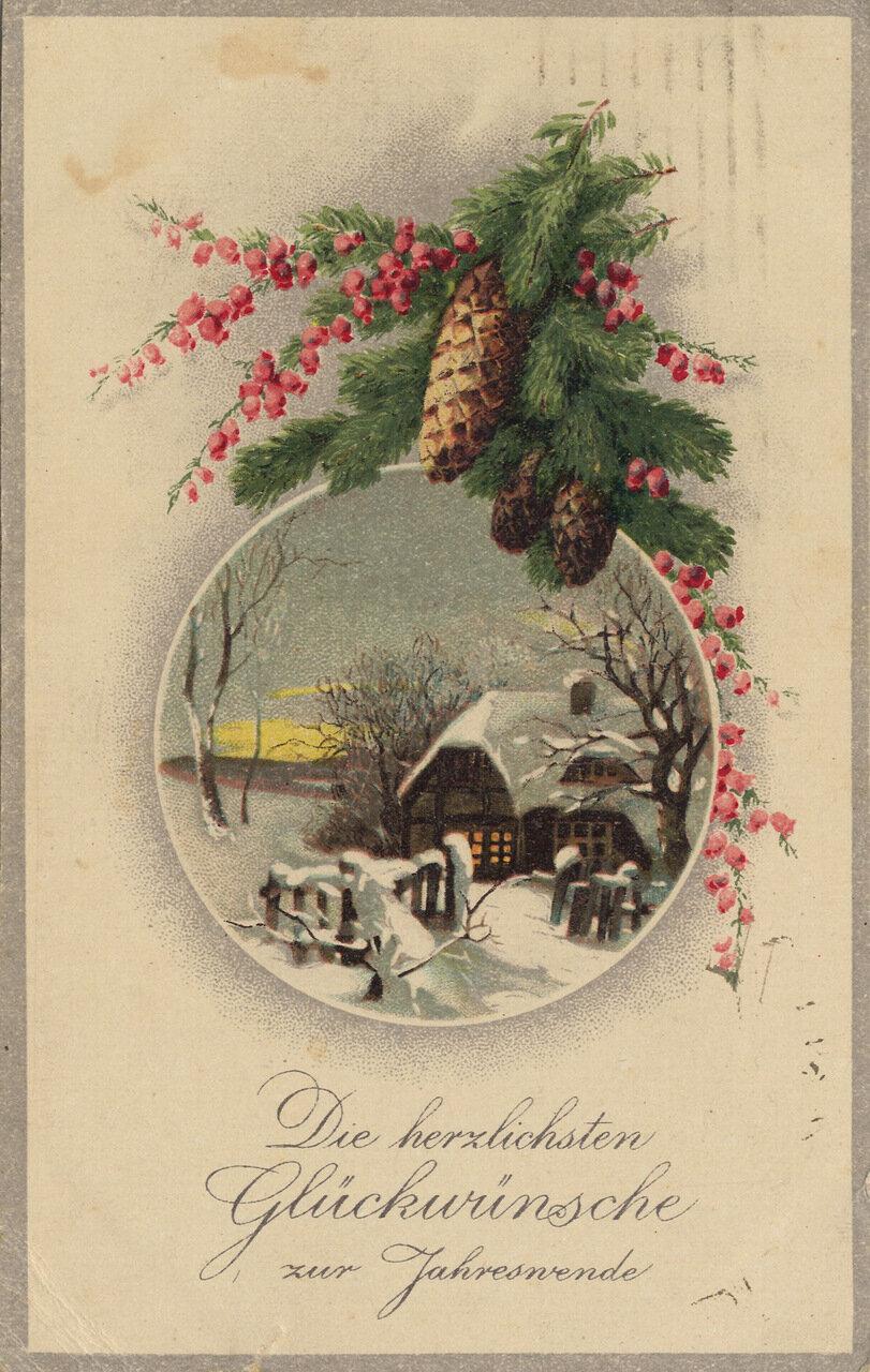 1.5 годиками, немецкие рождественские открытки 19 века